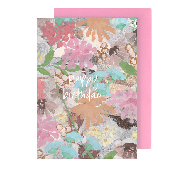 happy birthday floral | greeting card - Tiff Manuell