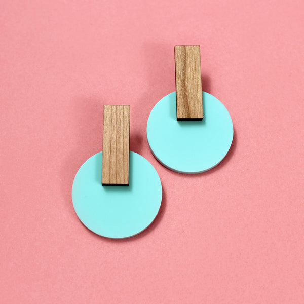 hiker turquoise | drop studs