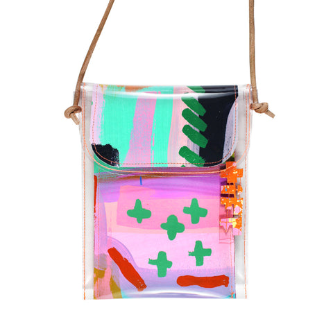 painted houses | mini handbag