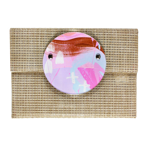 butterfly kisses | round perspex