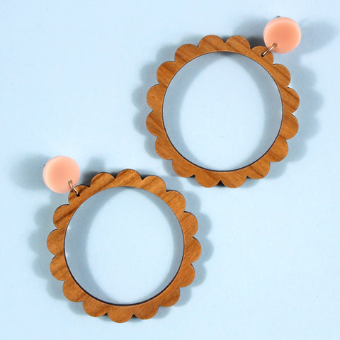 round the world natural | petal hoops