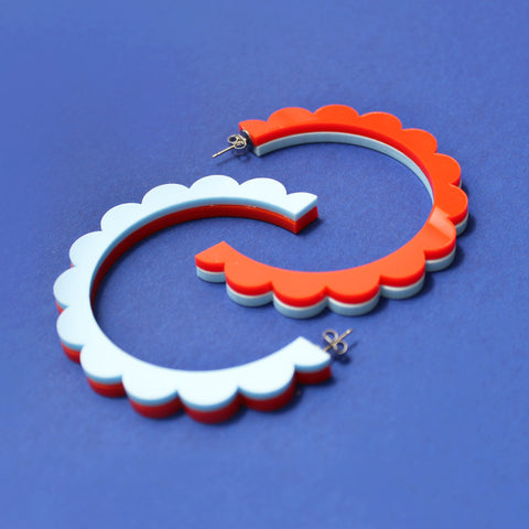 sailor blue | scallop hoops