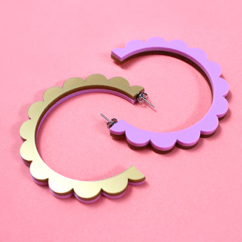 sailor purple | scallop hoops