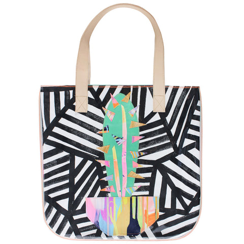 cactus crazy | tall tote