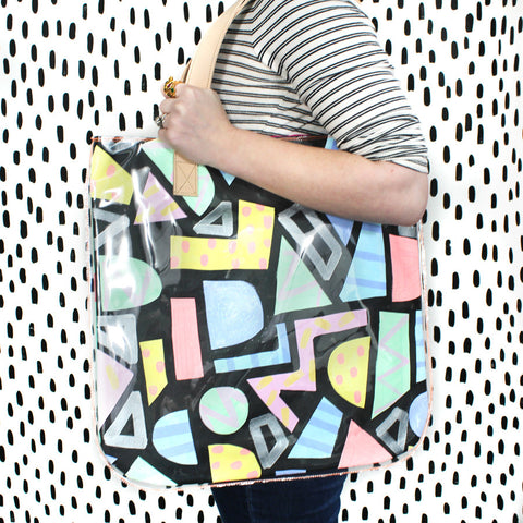 puzzle pieces | tall tote