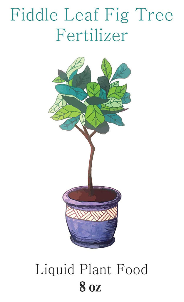 Fiddle Leaf Fig Tree Fertilizer | Ficus Plant Food | Improves Leaves and Branches | Potted Indoor Trees/House Plants Treatment (8 oz: UPC 810024700042 | 16 oz: UPC 810024700295)
