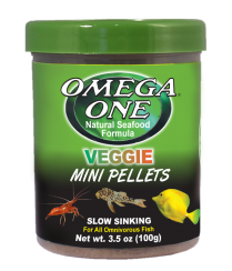 Omega One Veggie Mini Pellets Food (Various Sizes)