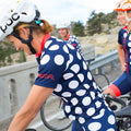 The Dots Cycling Jerseys - Black/Masai & Navy/Melon