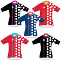 The Dots Cycling Jersey - Red Hot/Yucatan