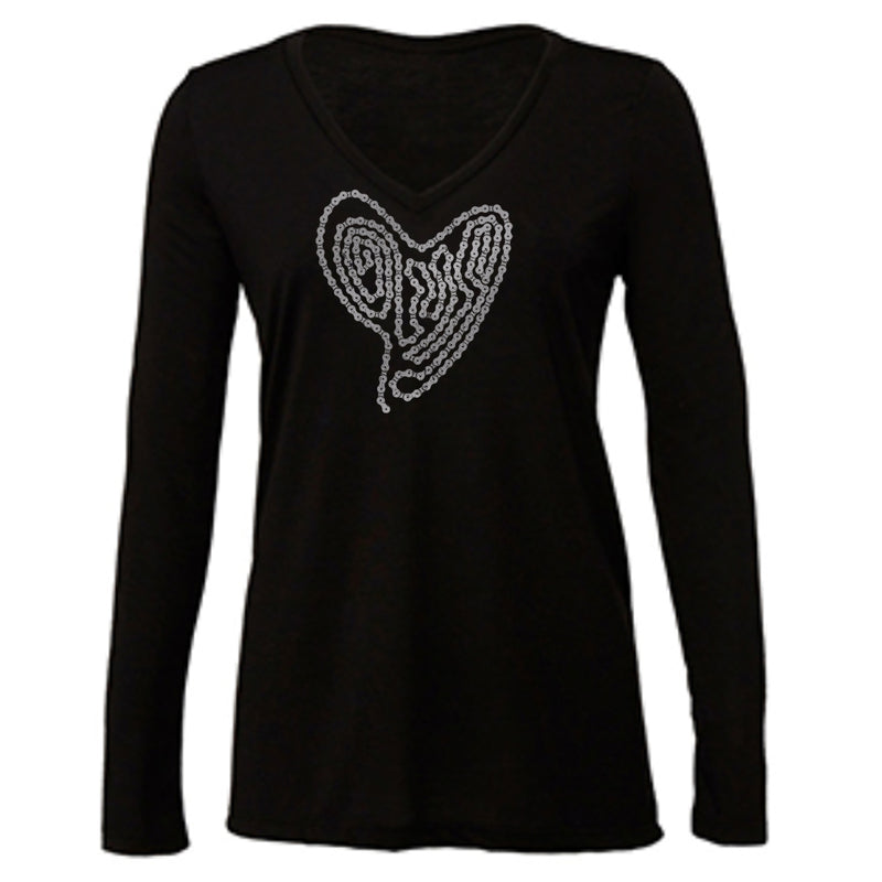 Bike Love Long Sleeve V-Neck [2 colors] (Holiday Special!)