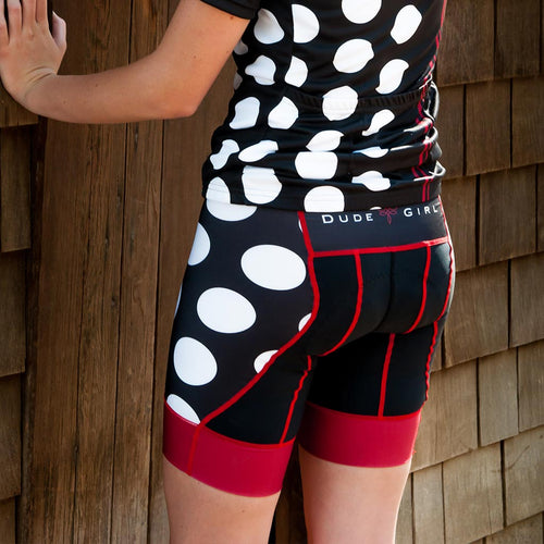 The Dots Cycling Shorts - Black/Masai