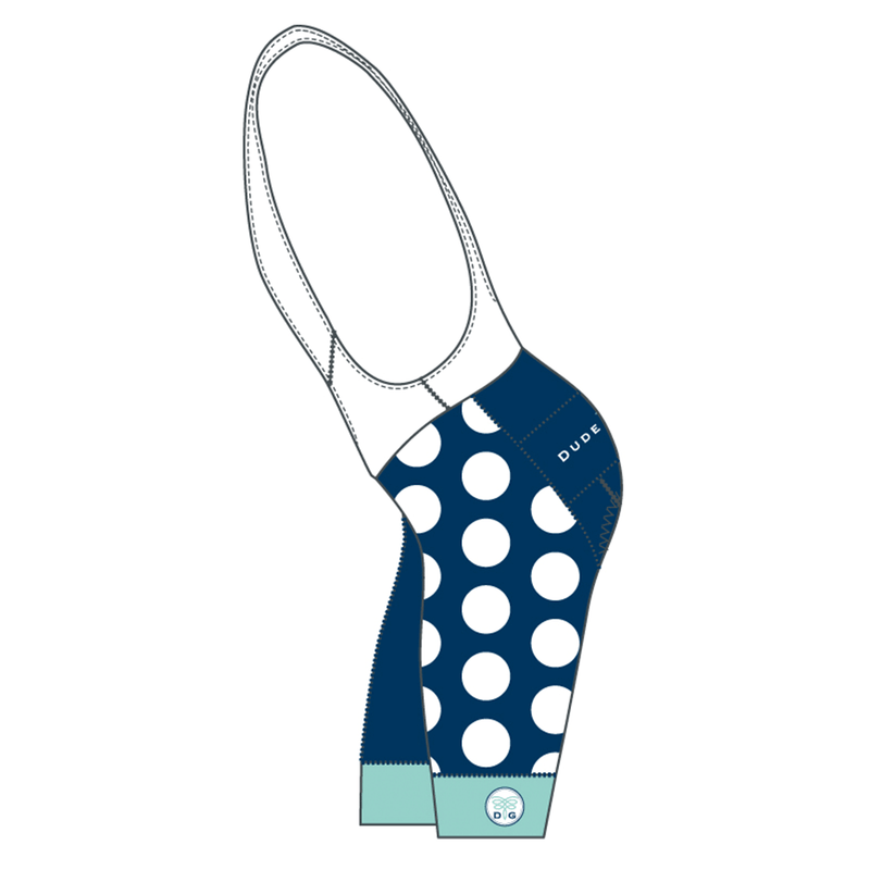 The Dots Cycling Bibs - Navy/Mediterranean