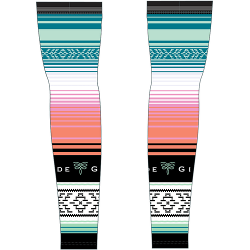 Serape Cycling Arm Warmers - Sea Glass
