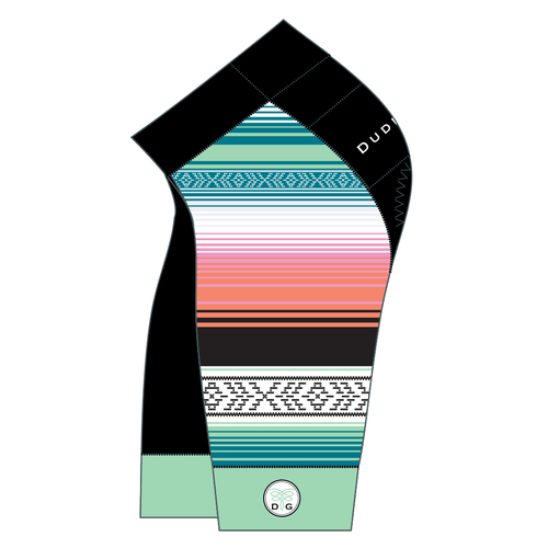 Serape Cycling Short - Sea Glass