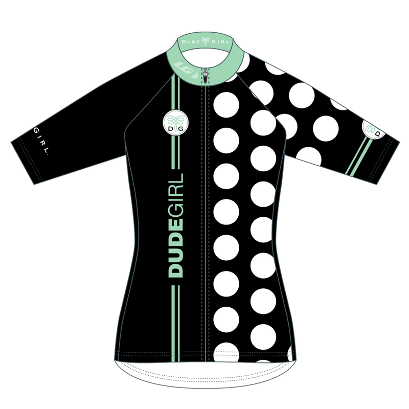 The Dots Cycling Jerseys - Black/Seaglass