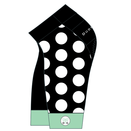 The Dots Cycling Shorts - Black/Seaglass