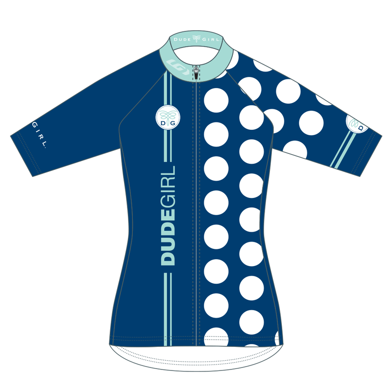 The Dots Cycling Jersey - Navy/Mediterranean