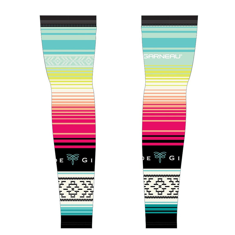 Serape Cycling Arm Warmers - Yucatán Blue
