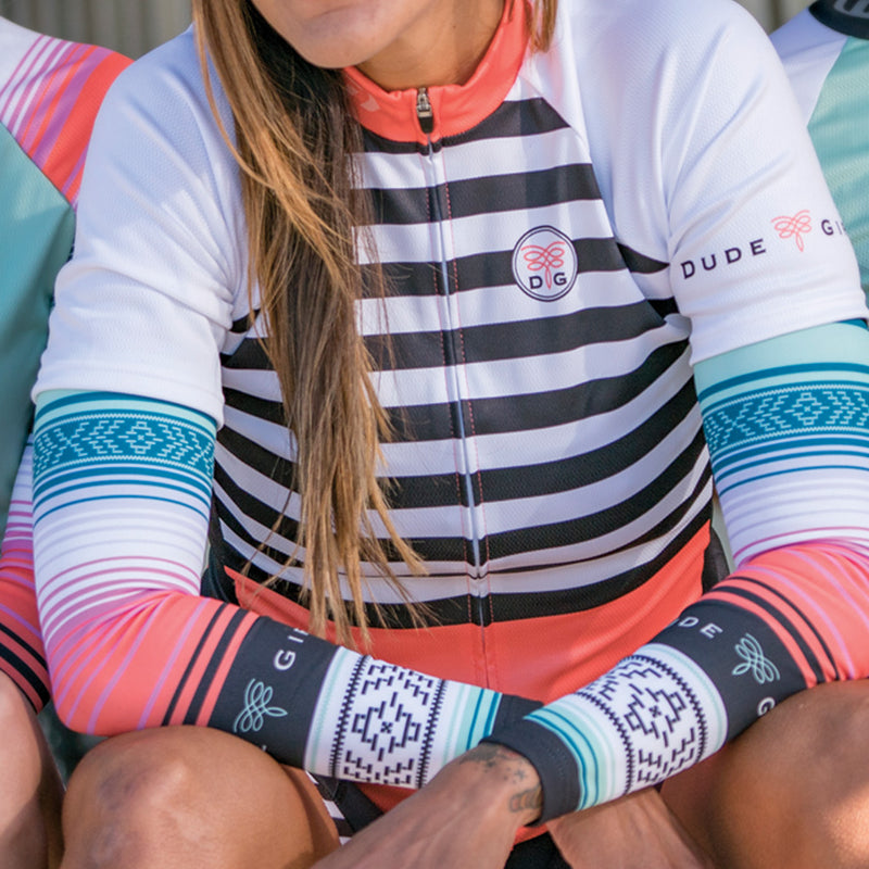 Serape Cycling Arm Warmers - Seaglass