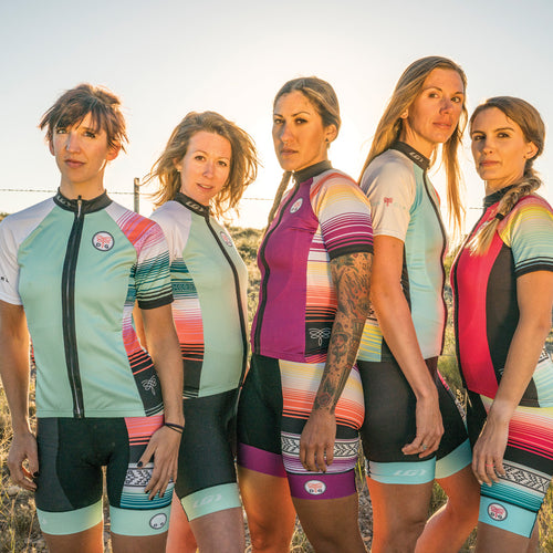 Serape Cycling Bibs - Seaglass