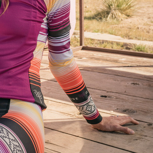 Serape Cycling Arm Warmers - Provence