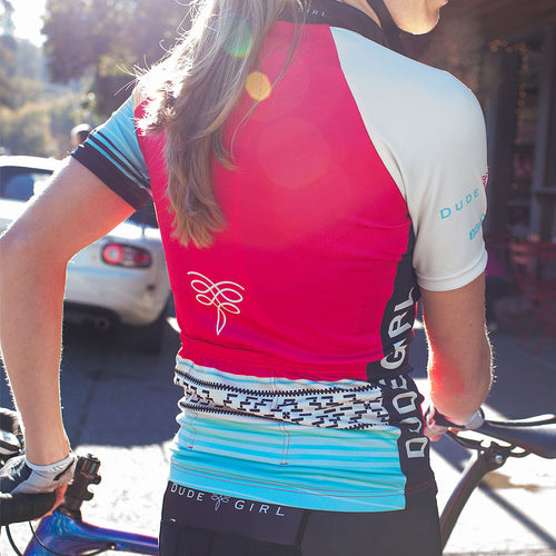 Serape Cycling Jersey - Cherry