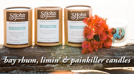 bay rhum, limin' & painkiller candles