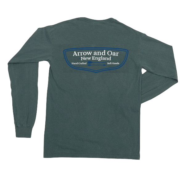 Heritage Long Sleeve Pocket Tee - Blue Spruce