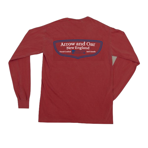 Heritage Long Sleeve Pocket Tee - Brick