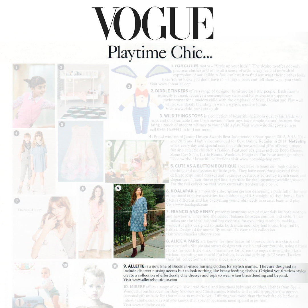 ALLETTE IS IN VOGUE. IT'S TINY BUT BLISS.