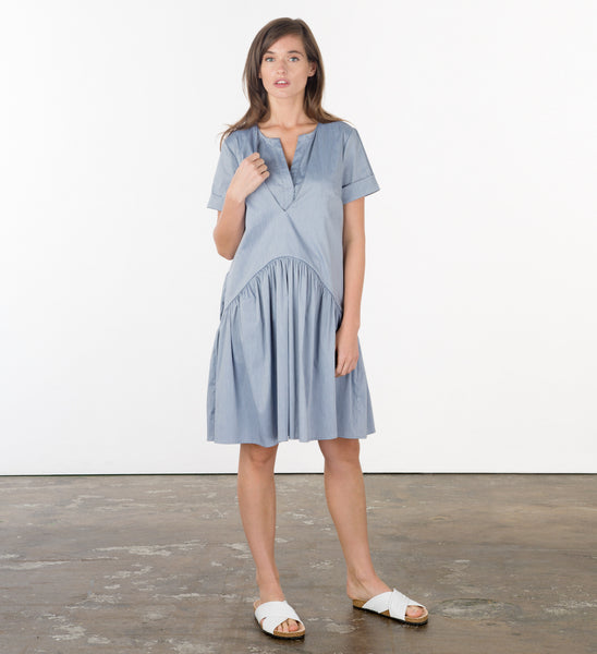 Blue Denyse Dress Frontal