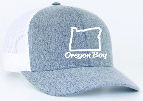 Oregon Boy | Heather/White - Oregon Grown