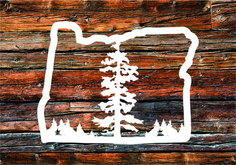 Decal | Oregon Tree - Oregon Grown