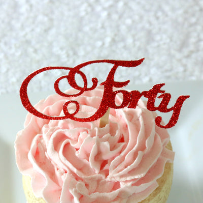 Forty Cupcake Toppers