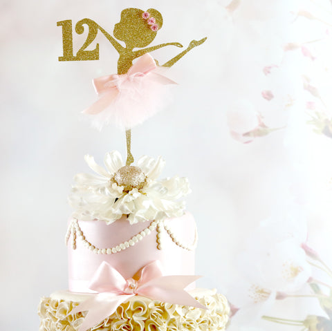 12th Ballerina Birthday Cake Topper Memory Keepsake Parties