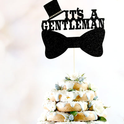 It's A Gentleman Cake Topper