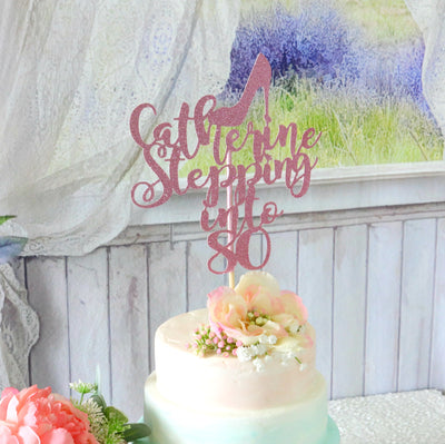 Stepping Into Cake Topper