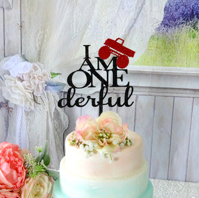 Onederful Truck Birthday Cake Topper