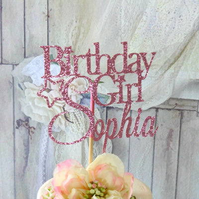 Birthday Girl Cake Topper