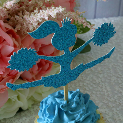 Cheerleader Cupcake Toppers - Set of 12