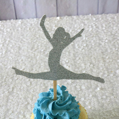 Gymnastics Cupcake Toppers