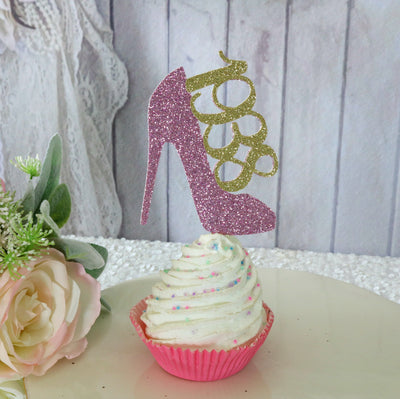 Glamour High Heel Cupcake Toppers