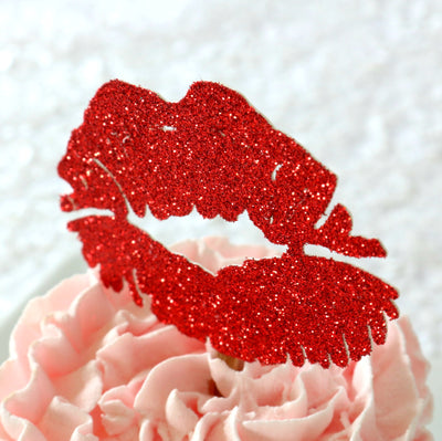 Lips Kisses Cupcake Toppers