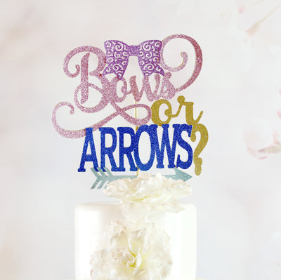 Bows or Arrows Cake Topper