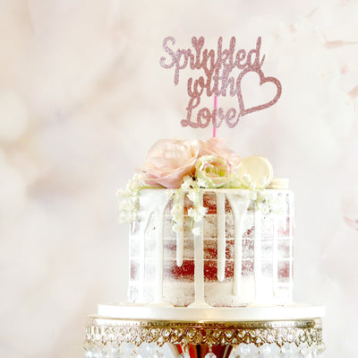 Sprinkled With Love Cake Topper