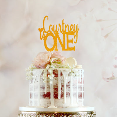 Age Cake Topper - Any Age and Name