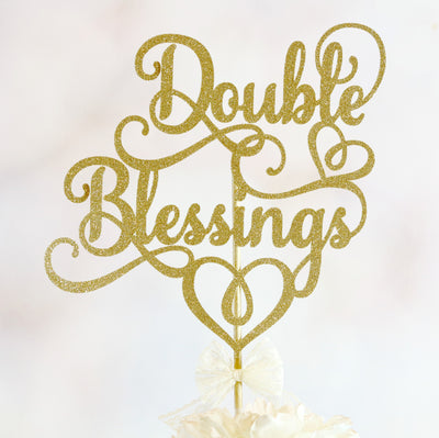 Double Blessings Cake Topper