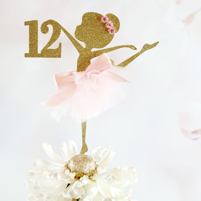 12th Ballerina Birthday Cake Topper