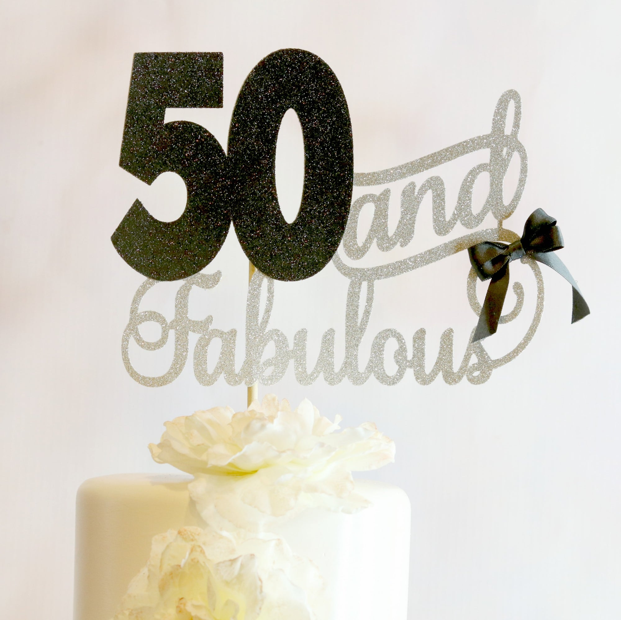 50 and Fabulous Cake Topper - Memory Keepsake Parties
