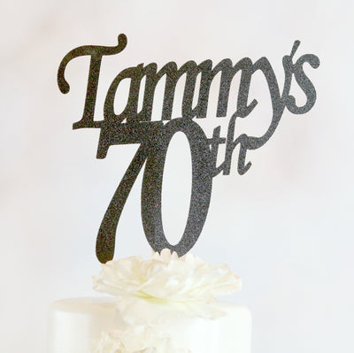 70th Birthday Cake Topper - Any Age and Color